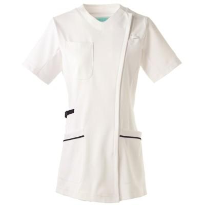 981 KAZEN レディススクラブジャケット半袖 ナースウェア・白衣・介護ウェア