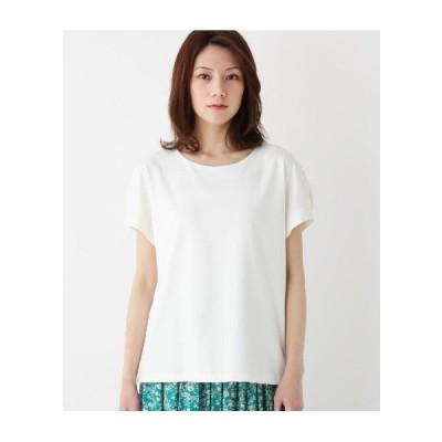 SHOO・LA・RUE(Ladies)(シューラルー(レディース))【M-LL/吸水速乾】スーピマコットン袖パールプルオーバー