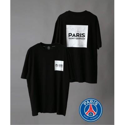 メンズ 【Paris Saint-Germain / パリサンジェルマン】MARBLE LOGO Tシャツ ブラック 2L