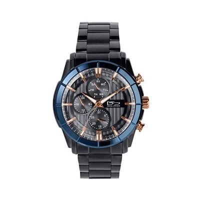 (新品) Daniel Steiger Paramount Men's Watch - Stainless Steel Men's Sports Watch - Day, Date & 24-Hours - Waterproof (Black)