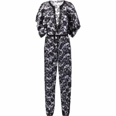 ノーマ カマリ Norma Kamali レディース オールインワン ジャンプスーツ ワンピース・ドレス Floral stretch-lace jumpsuit Black Roses
