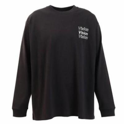 ヴィジョン(VISION)Tシャツ メンズ 長袖 ボタニカルフォトプリント 0323132-01BLK(Men's)
