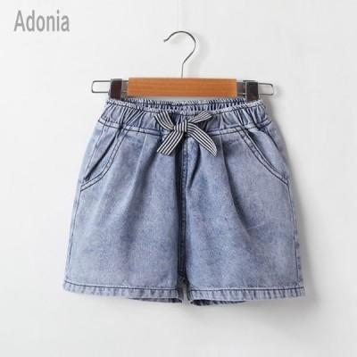 ズボン 半ズボン 韓国子ども服 女の子 デニムショートパンツ シンプル キッズ お洒落 個性 ブルー 110 120 130 140 150 160cm