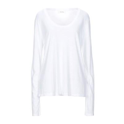 アメリカン ヴィンテージ AMERICAN VINTAGE T シャツ ホワイト L コットン 52% / レーヨン 48% T シャツ