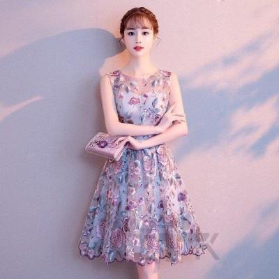 ウェディングドレス ミモレ丈ドレス ブライズメイド 介添え パーティードレス カラードレス ウエディングドレス 花嫁 二次会 結婚式 ワンピース