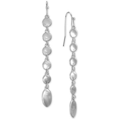 スタイルアンドコー レディース ピアス・イヤリング アクセサリー Linked Disc Linear Drop Earrings
