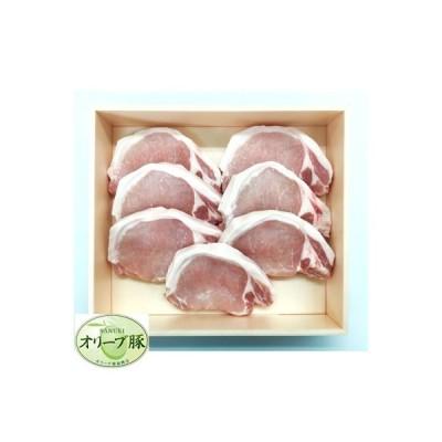 三豊市 ふるさと納税 香川県産 オリーブ豚 ロース ステーキ用 500g