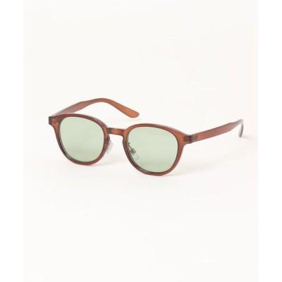 Revo. / ボストン型 サングラス カラーレンズ クリアフレーム UVカット【ケース付き】 MEN ファッション雑貨 > サングラス