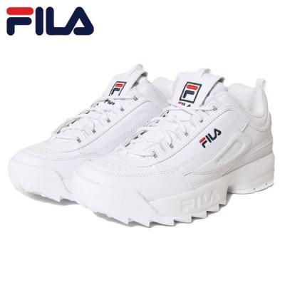 フィラ FILA スニーカー 厚底 白 メンズ レディース ユニセックス DISRUPTOR 2 F0215 WHITE