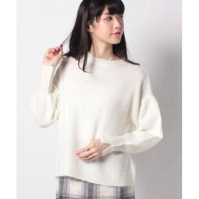 (Rewde/ルゥデ)ボリューム袖ニット(0R14-10136)/レディース ホワイト