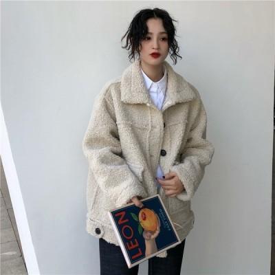 ジャケット コート ファッション 無地 長袖 もこもこ 防寒 レディース  ショート丈  冬アウター かわいい  秋冬新品