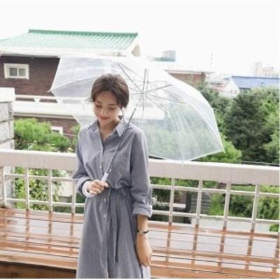 シャツワンピース ワンピース 大きいサイズ ゆったり 春ワンピース 春 韓国 ファッション レディース 韓国 レディース ファッション ワン