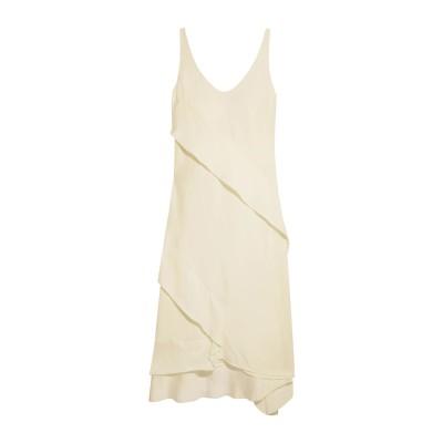 セドリック シャルリエ CEDRIC CHARLIER 7分丈ワンピース・ドレス アイボリー 38 レーヨン 100% 7分丈ワンピース・ドレス