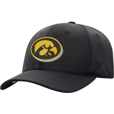 トップオブザワールド Top of the World メンズ キャップ 帽子 Iowa Hawkeyes Phenom-Bob 1Fit Flex Black Hat