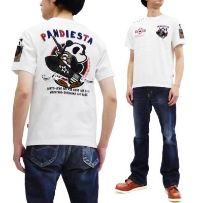 パンディエスタ Tシャツ PNADIESTA 半袖Tシャツ PDJ ミサイルパンダ 刺繍 520850 白 新品