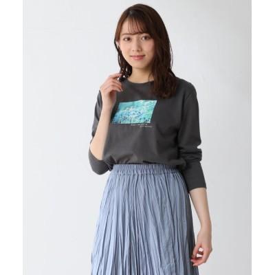 (Honeys/ハニーズ)フォトプリントTシャツ/レディース ブラック