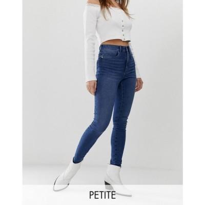 オンリー プティ Only Petite レディース ジーンズ・デニム スキニー ボトムス・パンツ high waist skinny jean ブルー