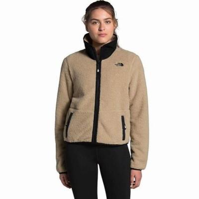 (取寄)ノースフェイス レディース ダンレイヴン シェルパ クロップ ジャケット The North Face Women Dunraven Sherpa Crop Jacket Hawthorne Khaki