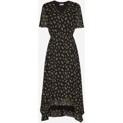 クローディ ピエルロ CLAUDIE PIERLOT レディース ワンピース ミドル丈 ワンピース・ドレス Floral-print crepe midi dress DARK PRINT