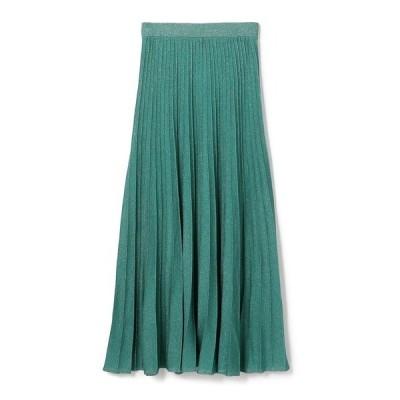 スカート ESTNATION / ラメタックプリーツロングスカート