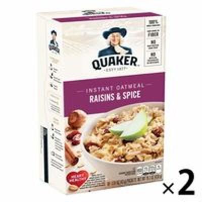 Quaker OatsQUAKER(クエーカー) オートミール レーズン&スパイス 430g 1セット(2個) シリアル