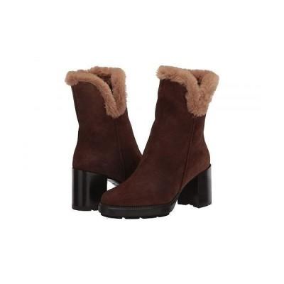 Aquatalia アクアタリア レディース 女性用 シューズ 靴 ブーツ アンクルブーツ ショート Ilisha - Chestnut/Sand Suede/Faux Fur