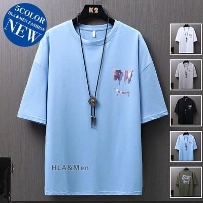 五分袖Tシャツ メンズ Tシャツ トップス おもしろTシャツ プリントTシャツ 半袖 クルーネック 夏 夏服