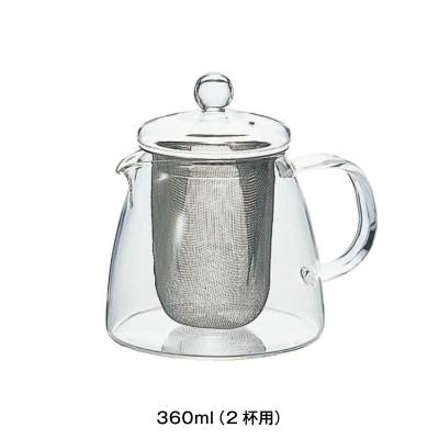 耐熱ガラスのリーフティーポット「ピュア」<2杯用/4杯用>(HARIO)