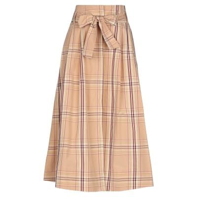 PDR PHISIQUE DU ROLE 7分丈スカート ローズピンク 1 コットン 100% 7分丈スカート
