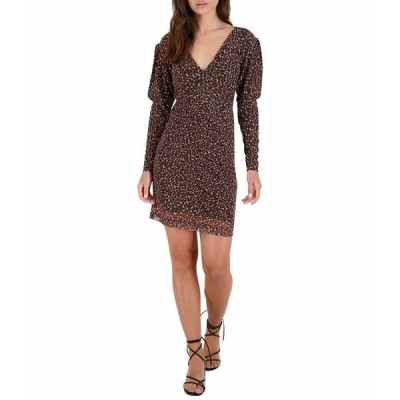 ビービーダコタ ワンピース トップス レディース Animal Attitude Dress Brown
