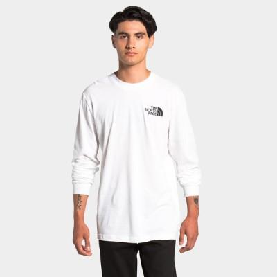 ザ ノースフェイス The North Face メンズ 長袖Tシャツ トップス Holiday Red Box Long Sleeve T-Shirt Tnf White/Red/Black