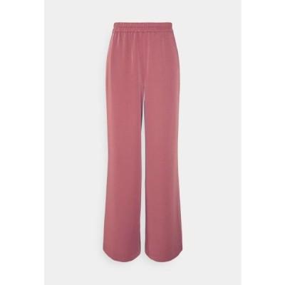 エヌエーケイディー レディース ファッション FLOWY FIT PANTS - Trousers - dusty pink
