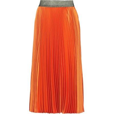 シルビアンヒーチ SILVIAN HEACH 7分丈スカート オレンジ S ポリエステル 97% / ポリウレタン 3% 7分丈スカート