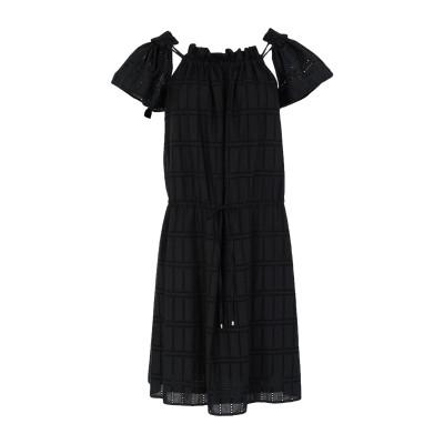 ブルマリン BLUMARINE ミニワンピース&ドレス ブラック 40 コットン 85% / ポリエステル 15% ミニワンピース&ドレス