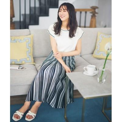 S size ONWARD(小さいサイズ) / 【セットアップ可】シアーマルチカラーニット スカート WOMEN スカート > スカート