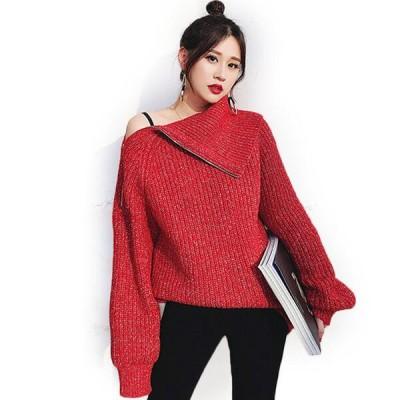 セーター ニット レディース 韓国 ゆったり あったか 防寒 オフショルダー タートル襟 かわいい おしゃれ 大量注文にも対応しています。