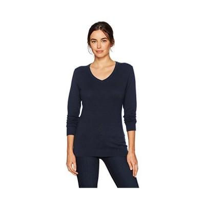 Cutter & Buck Women's Soft Cotton Blend Lakemont Long Sleeve V-Neck Sweater