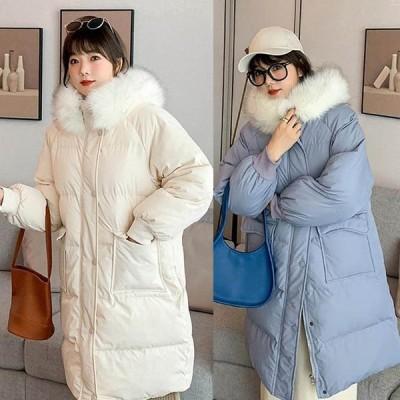 中綿コート レディース 40代 20代 ロング丈 軽い 秋冬 アウター ダウン風コート 中綿ジャケット パーカー フード付き 防寒 暖かい 着痩せ 新品