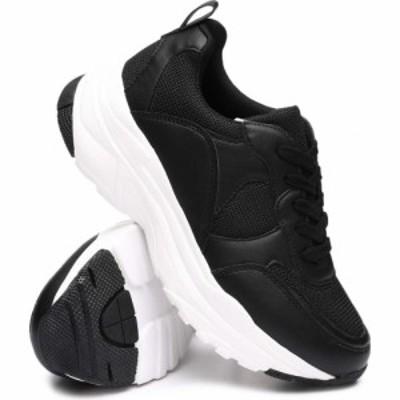 ファッションラボ Fashion Lab レディース スニーカー シューズ・靴 chunky fashion sneakers Black