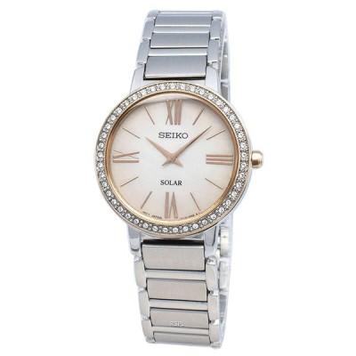 取寄品 SEIKO 腕時計 セイコー SUP432P1 海外モデル 逆輸入 ゴージャス オーロラホワイト ソーラークオーツ ビジネス レディース腕時計 送料無料