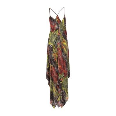 PHILIPP PLEIN ロングワンピース&ドレス ビタミングリーン M シルク 100% ロングワンピース&ドレス