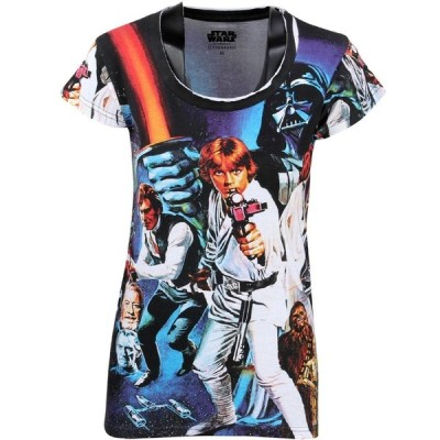 イレブン パリ Eleven Paris レディース Tシャツ トップス x Star Wars tawa All Over Print Tee black/print