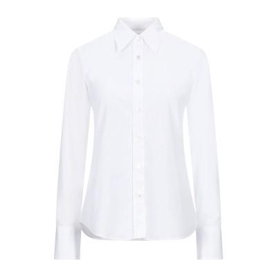GUGLIELMINOTTI シャツ ホワイト 40 ポリエステル 70% / コットン 30% シャツ