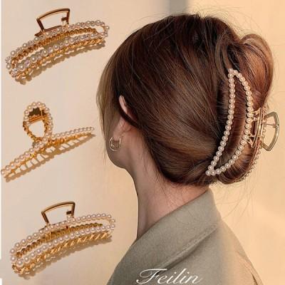 ヘアクリップ メタル フレーム ヘアアクセサリー 韓国 レディース 金属 合金バンスクリップ レディース 髪飾り マット メタル マーブル シンプル 簡単 可愛い