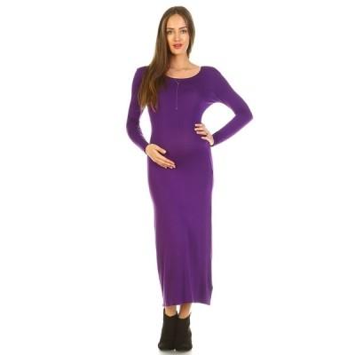 ホワイトマーク ワンピース トップス レディース Maternity Penelope Maxi Dress Purple