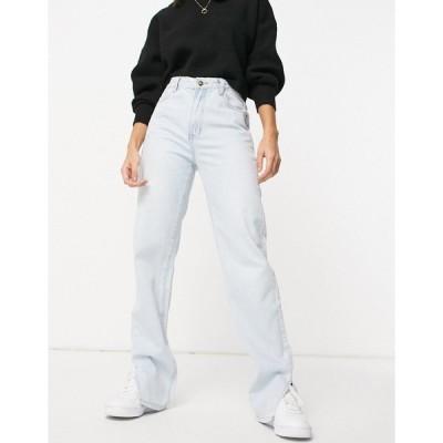 ライオネス レディース デニムパンツ ボトムス Lioness straight leg jeans in blue Light blue