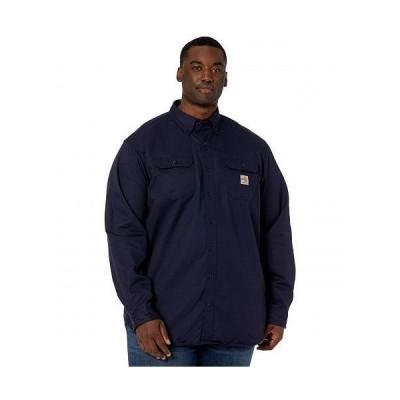 Carhartt カーハート メンズ 男性用 ファッション ボタンシャツ Big & Tall Flame-Resistant Classic Twill Shirt - Dark Navy