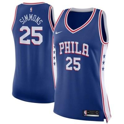 ナイキ ユニフォーム トップス レディース Ben Simmons Philadelphia 76ers Nike Women's Swingman Jersey Royal Icon Edition