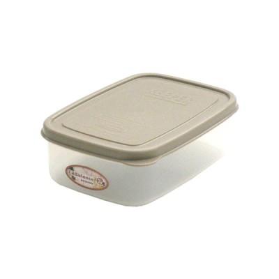 エンバランス鮮度保持容器角型 590ml ジニアルベージュ  - ホワイトマックス