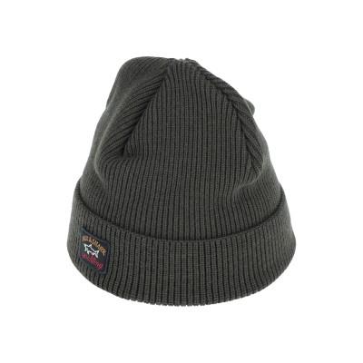 ポール・アンド・シャーク PAUL & SHARK 帽子 ダークグリーン one size バージンウール 100% 帽子